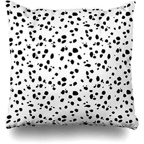 Throw Pillow Covers House Animal Print Dalmation Pillowslip Square Sofa Cute 18 x 18 Inches Cushion Cases Pillowcases