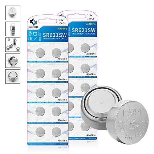KKBESTPACK LR44 Batteries AG13 357 303 SR44 1.5V Button Coin Cell Battery Pack of 20