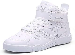 Sneakers da Uomo Moda Scarpe da Pallacanestro Hip-Hop Allacciate da Esterno Scarpe da Escursionismo da Corsa Traspiranti d...