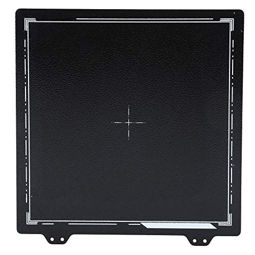 Federstahlblech, doppelseitige PEI-Pulverbeschichtung 3D-Oberfläche 220 x 220 mm für CR-20/Anet A8/Reprap/Prusa i3/Tronxy XY-2/Länger LK2/Anet A6