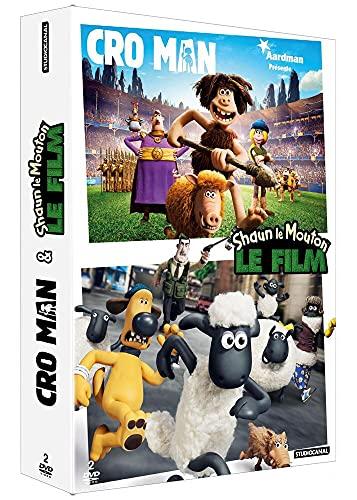 Coffret aardman 2 films : cro man ; shaun le mouton, le film : [FR Import]