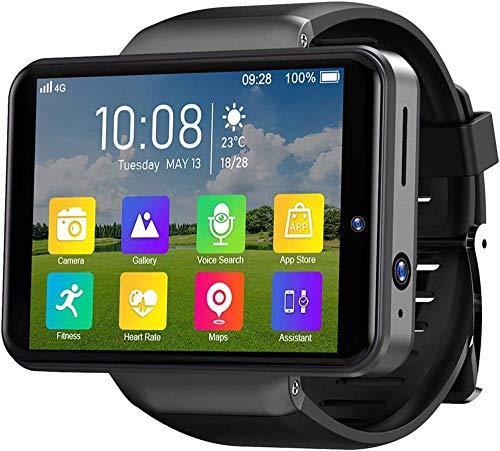 Reloj Inteligente 2.4 'Reloj Inteligente 3Gb+32Gb Cara &Amp Patrón Desbloquear 2000Mah Cámaras Duales Ip67 Impermeable Reloj Deportivo Frecuencia Cardíaca-Negro