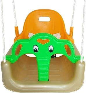 DONG Columpio para Niños De Plástico Bebé Jardín Swing Asiento Infantil De Plegable Interior Y Exterior Movimiento Juguete para Colgar del árbol,Yellow
