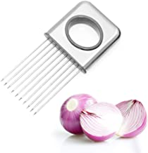 LifeJoy Onion Holder Vegetable Potato Cutter Slicer Gadget Stainless Steel Fork Slicing Odor Remover Kitchen Tool Aid Gadget Cutting Chopper (Stainless Steel)