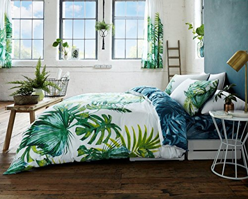 Adam New Colorful Fruity Floral Duvet/Quilt Cover Bedding Sets (King, Tropical Leaf)