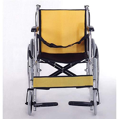 Yaeele a prueba de golpes Silla médica de rehabilitación, sillas de ruedas, silla de ruedas plegable de peso ligero de conducción médica, edad avanzada aleación de aluminio sillón de ruedas mayor Desa