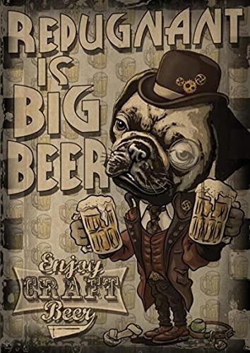 YYAYA.DS Cuadros Decorativos Vintage Vino Cerveza Bebida Cartel Ilustraciones Pintura Lujo para cafetería Bar 60x90cm