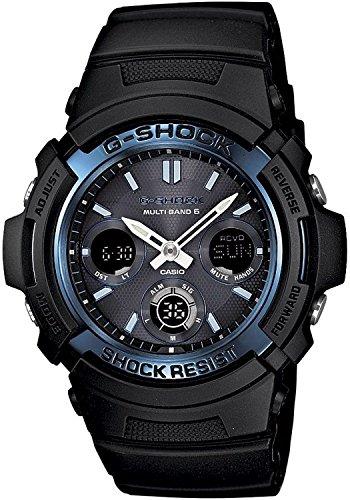 [カシオ]CASIO G-SHOCK AWG-M100A-1A MULTIBAND 6 BLACK/BLUE デジアナ 電波ソーラー 腕時計 [並行輸入品]