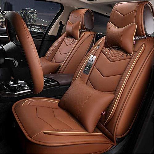 Leder-autostoelafdekking, autokussen Luxury Edition stoelafdekking vier seizoenen universeel-360deg; Full Surround Fit-model (kleur: B)