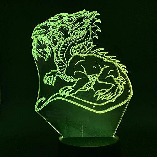 3D Nachtlicht , Drache , Kinderlampe Schlaflicht Desktop-Dekoration Nachttischlampe Tischlampe Kreative Dekoration Weihnachtsgeschenk Geburtstagsgeschenk.