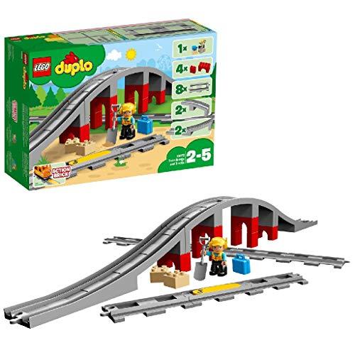 LEGODUPLO Eisenbahnbrücke und Schienen 10872 Konstruktionsspielzeug