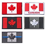 Oyster-Patch Canada Country Flagge/Quebec State Flag Tactical Patch Haken und Loop, Kanada 5 Stk