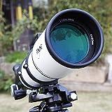 GGPUS TQ2-HS102DL Longitud Focal 920Mm, Espejo buscador 6 * 30, película Verde Multicapa, telescopio telescopio Refractor Telescopios de Viaje portátiles Ajustables para astronomía