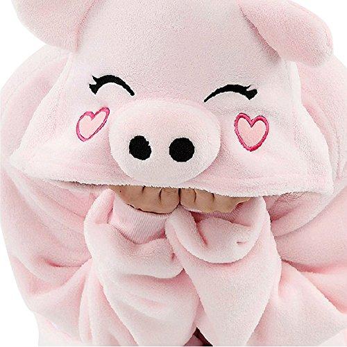 Unisex Erwachsene Kinder Pyjamas Cosplay Nachtwäsche Tier Onesie Kostüme Schlafanzug Tieroutfit tierkostüme Jumpsuit (Erwachsene M Für Hohe 156-165CM, rosa schwein)
