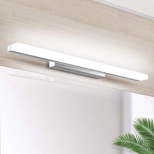 Lampe Miroir LED 40CM, SOLMORE Applique Salle de Bain 700LM 8W 6000K Lampe Miroir pour Salle de Bain Miroir LED IP44 ...