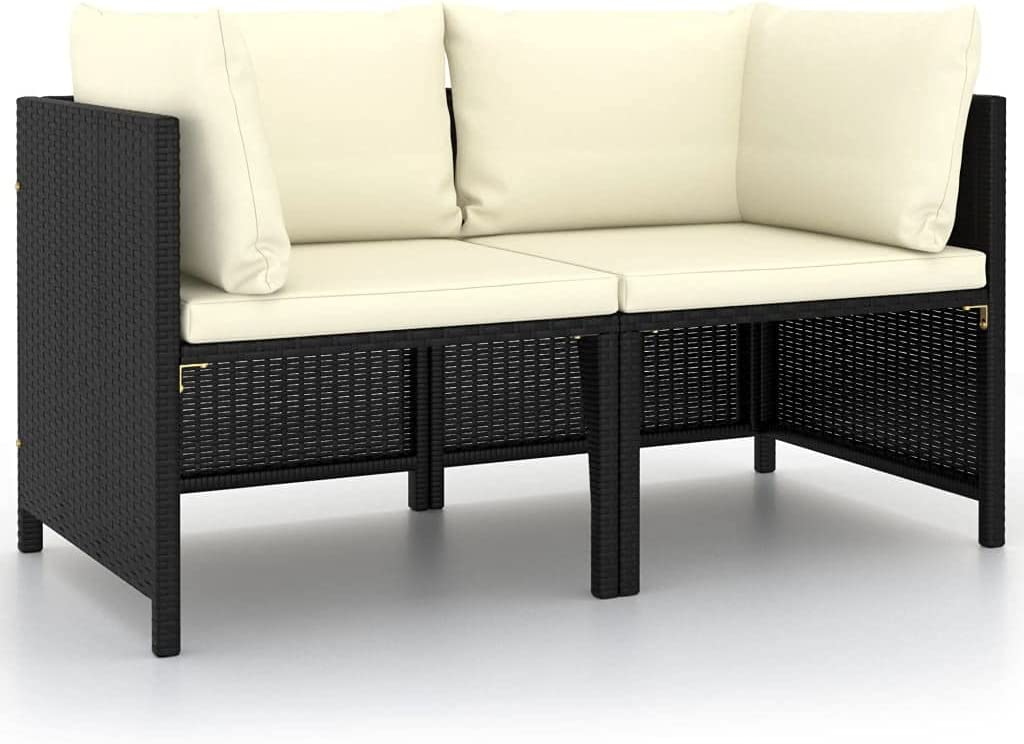 vidaXL 2-Seater Garden Sofa with Outdoor Cushions Inventory cleanup selling Minneapolis Mall sale Patio Balcony