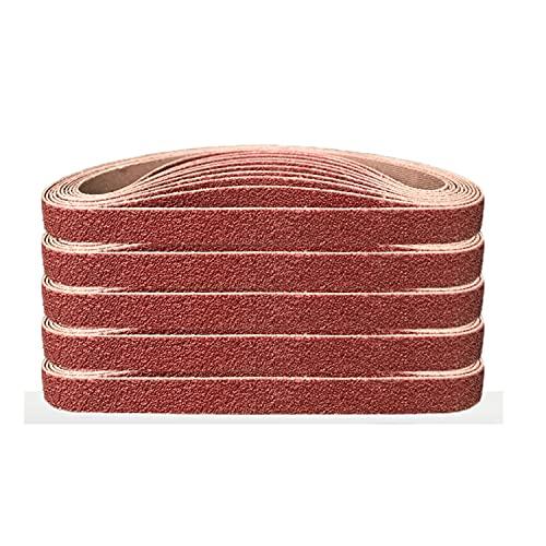 Aluminiumoxid-Schleifbänder,10x330 MM Schleifband.zum Polieren Metall, Holz.3 Körnungen jeweils 6x40/80/120/180/320,Schleifband-Set, für Bandschleifer (30Stück)