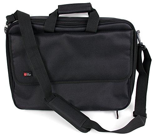 DURAGADGET Sacoche Noire avec bandoulière Compatible avec ASUS ZenBook UX510, ROG Strix GL553, Lenovo Legion Y520 Ordinateurs Portables