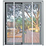 Mag-Connexion Fiberglass Screen Door | Bug & Mosquito, Fire and Rip Proof, Kids & Pets Friendly (62'x81' - Fits Sliding Doors Size up to 60'x80', White)