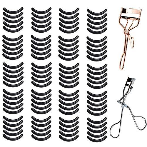 Professionelle Wimpernzange, langlebig und klassisch, mit 100 schwarzen Nachfüllpads für Mädchen...