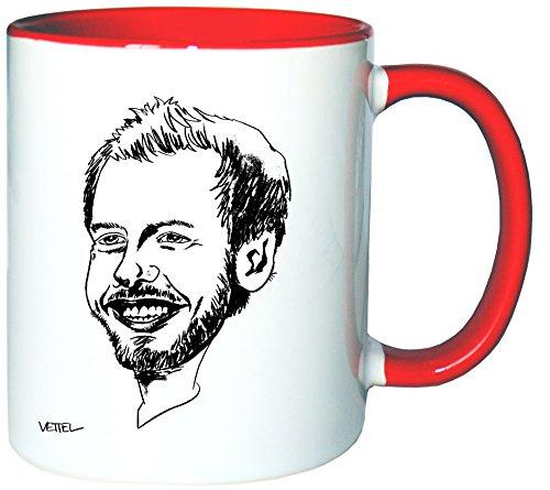 Mister Merchandise Kaffeetasse Becher Sebastian SEB Vettel Teetasse
