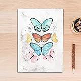 QVQIU Nordic Vintage Flower Bird Butterfly Pinturas sobre Lienzo Arte de la Pared Imágenes Poster Print Living Room Decoración del hogar Sin Marco 30x40 cm