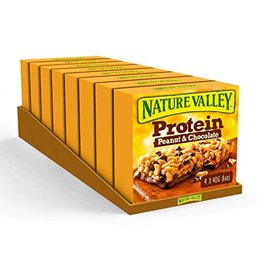 Nature Valley Protein Peanut & Chocolate Gluten Free Cereal Bars 4 x 40g...