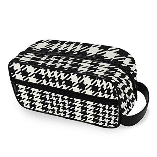 Vintage Plaid Plover Case Classic Portable Trucco Trousse per Donne Ragazze Multifunzione Viaggio Toiletry Bag Bag Bag Bag Borsa di tela