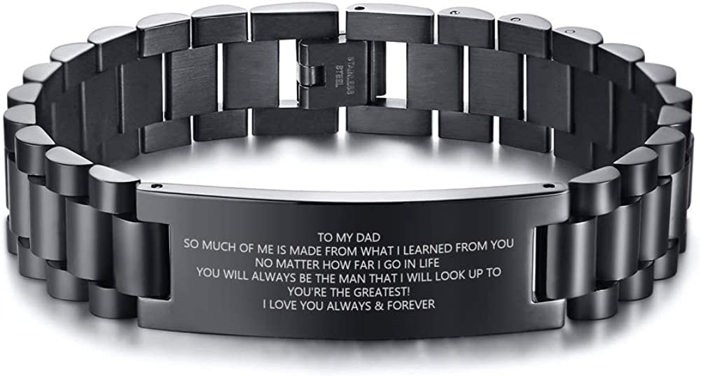 MEALGUET to Max 53% OFF NEW My Dad Bracelet Daughter Son Lo Father Gift Idea