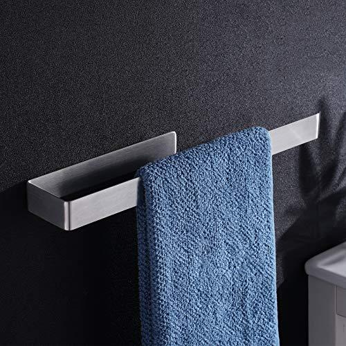 Aikzik Bad Handtuchhalter Ohne Bohren Handtuchstange Selbstklebend Edelstahl für Badezimmer und Küche 36cm