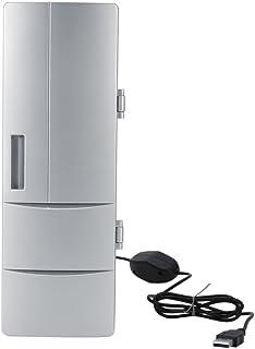 Mini Nevera USB Portátil Mini USB Nevera 2 en 1 Refrigerador/Calefacción Bebida Refrigerador Silencioso para el Hogar Coche Oficina Gris