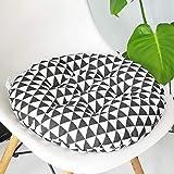 vctops Bohemian Soft Round Chair Pad Garden Patio Home Kitchen Office Seat Cushion Black White Diameter 16'