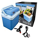 Explora® 24L Electric Cool Box Cooler Hot Cold Portable Dual-Function 2-in-1 With 12V