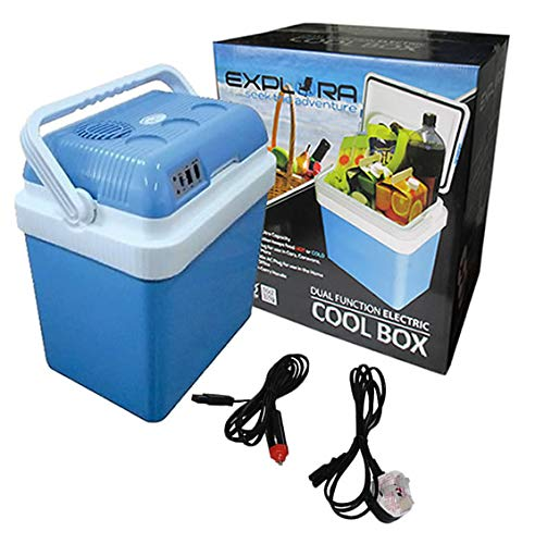 Photo of Explora® 24L Electric Cool Box Cooler Hot Cold Portable Dual-Function 2-in-1 With 12V DC & 240V AC Adaptors