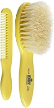 Kent White Bristle Baby Brush and Comb Set