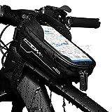 Bolsa para Cuadro de Bicicleta, Bolsa de Manillar de Bicicleta, Impermeable, Bicicleta Bolsa de Almacenamiento para iPhone XS MAX XS X 8, 7, 6 6S Plus smartphones por Debajo de 16,5 cm