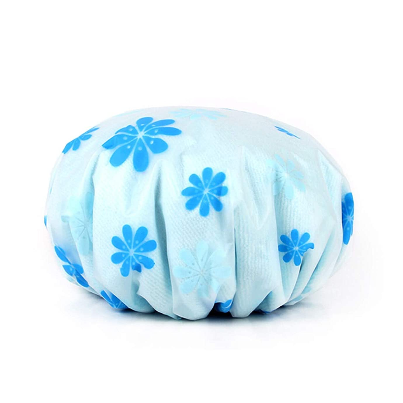 表現ジュラシックパークリゾートCHAHANG ダブル太いシャワーキャップレディース防水シャワーキャップアダルトシャワーキャップピンクの花 (Style : 4)