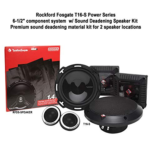 "Rockford Fosgate Power Series T16-S 6.5"" Component Speaker System + RFDS-Speaker Deadening Speaker Kit Bundle"