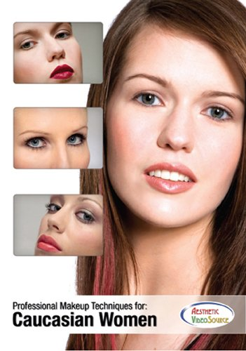 Professional Makeup Techniques for Caucasian Women - Professional Makeup Artist Training DVD - Makeup Techniques For Light and Fair Skin Tones - Educational Cosmetology Video. Learn Natural and Dramatic Makeup. Learn How to Highlight and Contour...