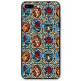 HNJZ-GS Funda de teléfono para iPhone 7 Plus 8 Plus 7/8 Plus de Cristal de Cuento de Hadas de Bella y Bestia Accesorios Decorativos para teléfonos móviles con Tema