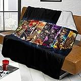 Mmm fight Perfect Throw Blanket Over-Watch Fleece Blanket Throw Living Room Bed Blanket for Men Boys