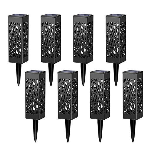 Lamparas de Jardin, Lámpara Solar Luz ambient, Ideal Para Jardín y Patio, Lámparas Solares Farola LED, Lámparas Solares Jardin [Clase de eficiencia energética A] (luz cálida, luz solar*8)