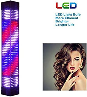 """Wall Mounted 59.1"""" Led Barber Pole Retro Light Red White Blue Waterproof Rotating Illuminated Stripes Wall-Mounted Lamp Ro..."""