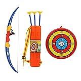 Pwshymi Arco de Tiro con Arco para niños Arco de plástico Juguetes Juego de Deporte al Aire Libre Niños y niñas