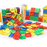 DEJUN Building Blocks -1 Tiles Construction and Connect Toy Sets, Educational Building Toys Building Sets, Develops Kids Imagination, Interlocking Solid for Preschool Toddlers Girls and Boys (70 PCS)