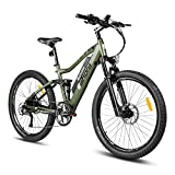 eAhora AM100 27.5inch 48V Electric Bicycle Dual Hydraulic Brakes, Air Full Suspension 350W Mountain...