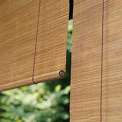 H.ZHOU Cortina de bambú Bambú Natural Rueda for Arriba la Ventana ciega la Cortina de Sun, 60% de Cortina de luz de filtrado de Patio/toldo/Gazebo/Ventana, 35 Tamaños Opcionales Parasol G5105