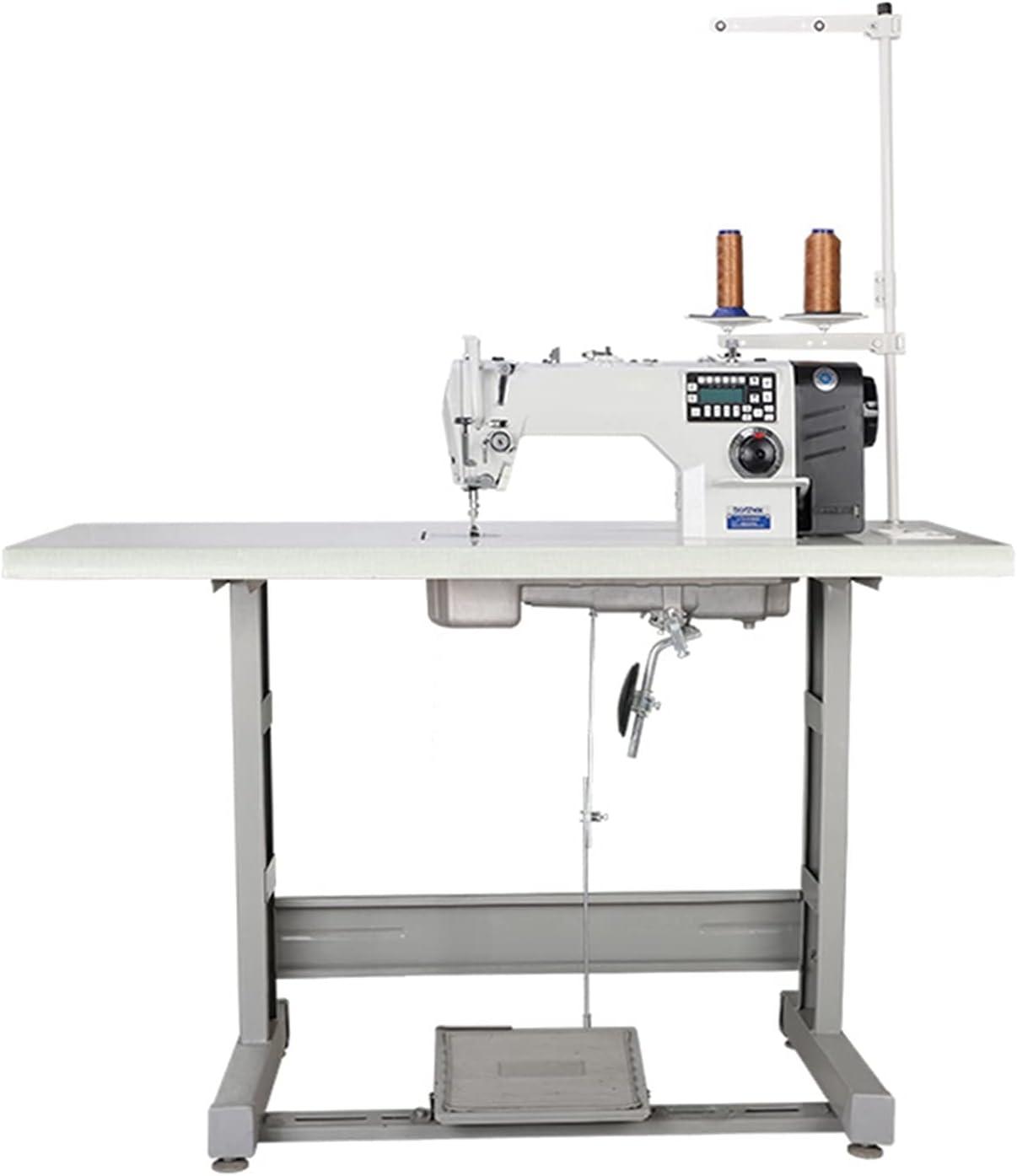 WEARRR Máquina de Coser eléctrica Plana computarizada Industrial, máquina de Coser de Bloqueo Directo Completamente automático. (Color : 4LINES)