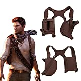 Xcoser Uncharted Nathan Drake Shoulder Holster Deluxe PU Cosplay Costume Accessories Brown