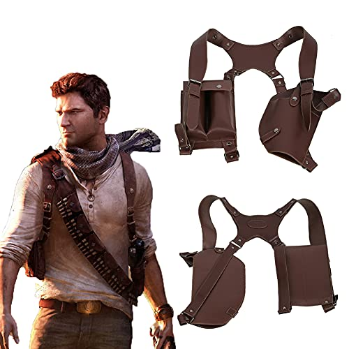 Xcoser Uncharted Nathan Drake Shoulder Holster Deluxe PU...